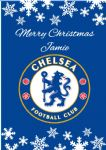 Personalised Chelsea FC Christmas Card